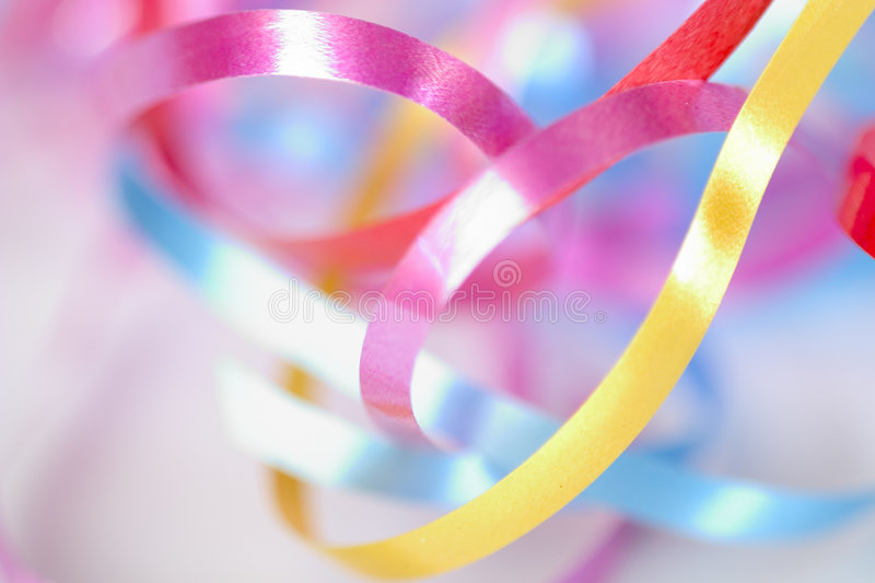 Colorful ribbons royalty free stock images