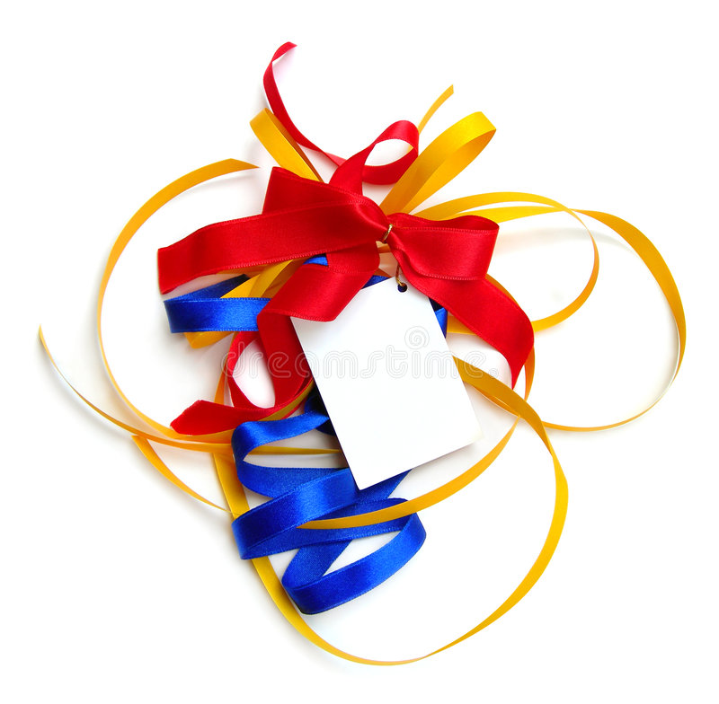 Colorful Ribbons,card,isolated Stock Photography