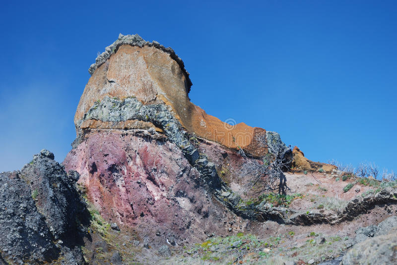 Colorful rock formations royalty free stock photo