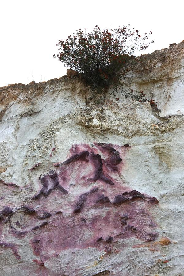 Colorful rock. With natural color in a mine area near Nerva in Andalusia Spain stock photos