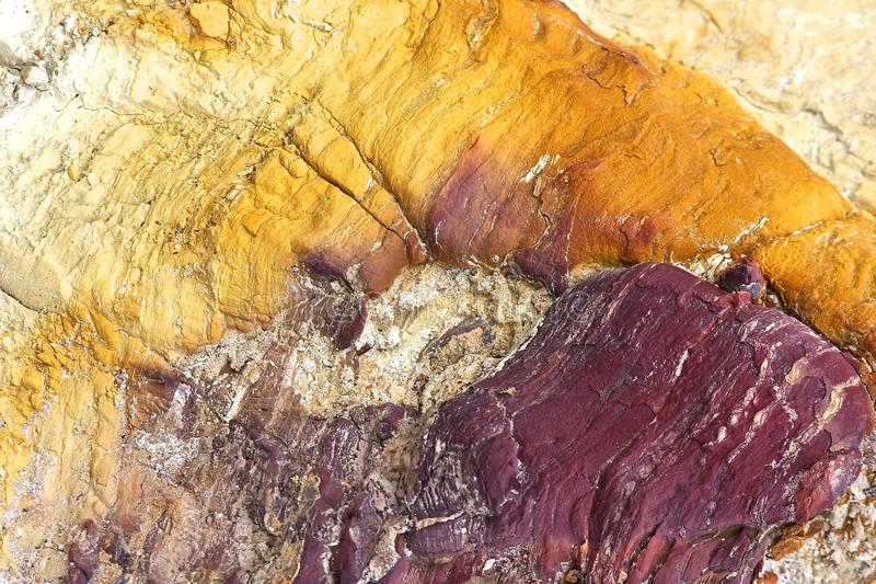 Colorful rock. With natural color in a mine area near Nerva in Andalusia Spain stock photo