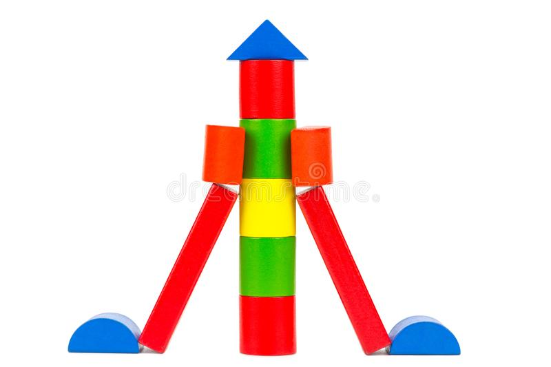 Colorful rocket toy royalty free stock photography