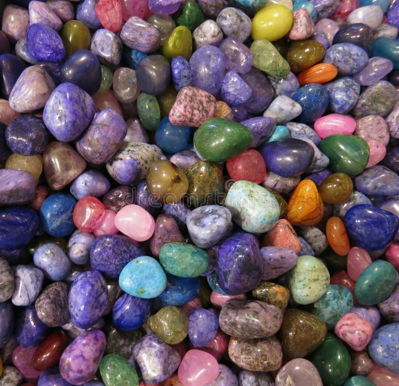 Colorful Rocks. This is a collection of colorful, shiny rocks royalty free stock photo