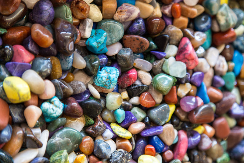 Colorful rocks royalty free stock photos