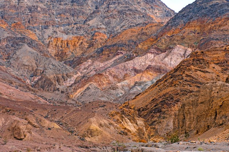 Colorful Rocks on a Desert Canyon Wall stock photos