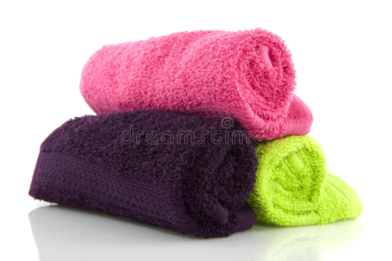 Download Colorful rolled towels stock image. Image of bathroom - 13021887