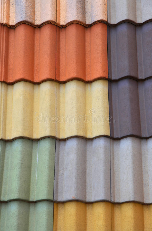 Colorful roof tiles stock photography
