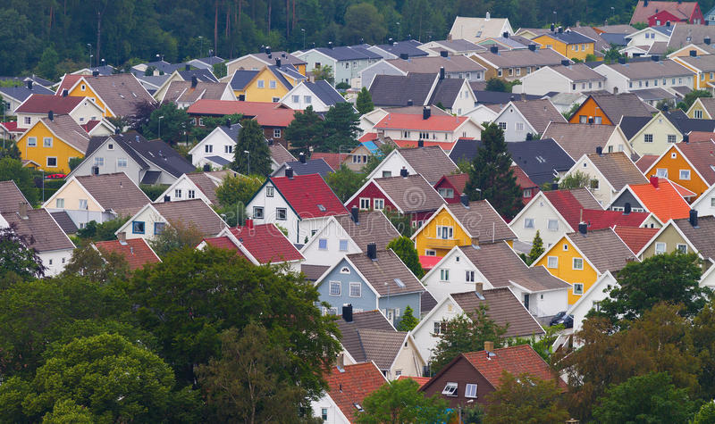 Download Colorful roofs stock image. Image of roofs, norway, colorful - 25797595