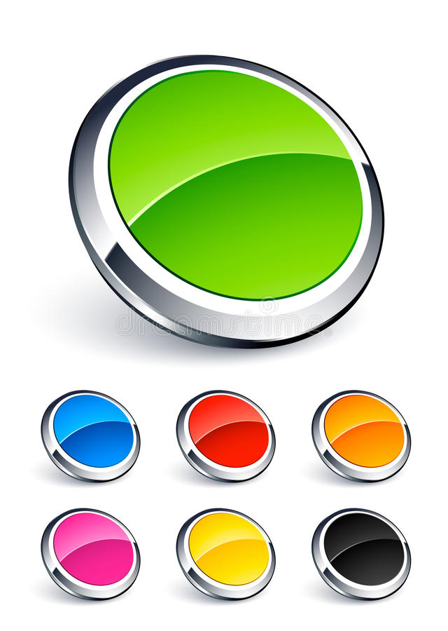 Free Colorful Round Buttons Stock Photography - 15848632