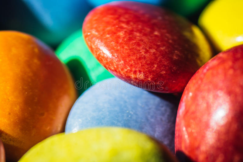 Colorful round Candy stock images