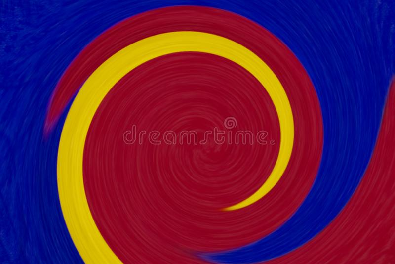 Colorful round twirl abstract background royalty free stock photography