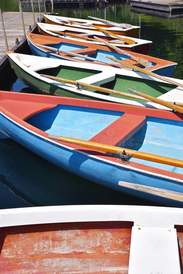 Free Colorful Rowing Boats Royalty Free Stock Photos - 55607498