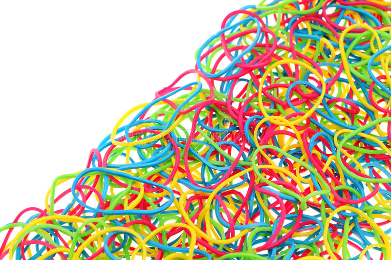 Download Colorful rubber bands stock photo. Image of copy, piled - 37481362