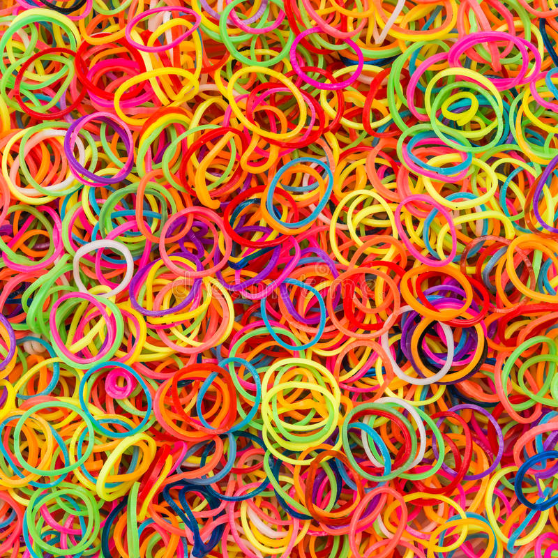 Colorful rubber elastic band stock photo