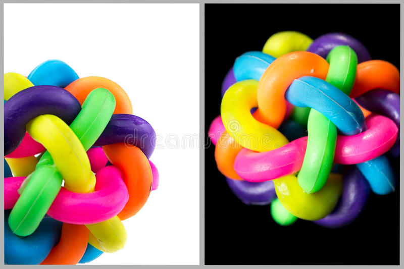 Colorful rubber knot ball royalty free stock image