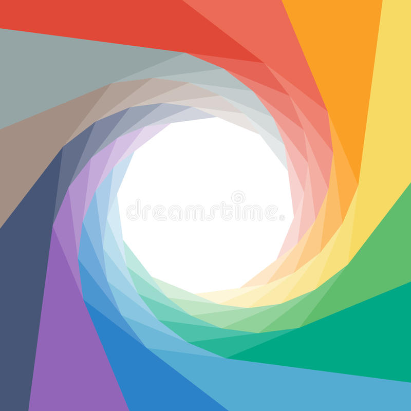 Colorful rumpled geometric swirl background design vector illustration