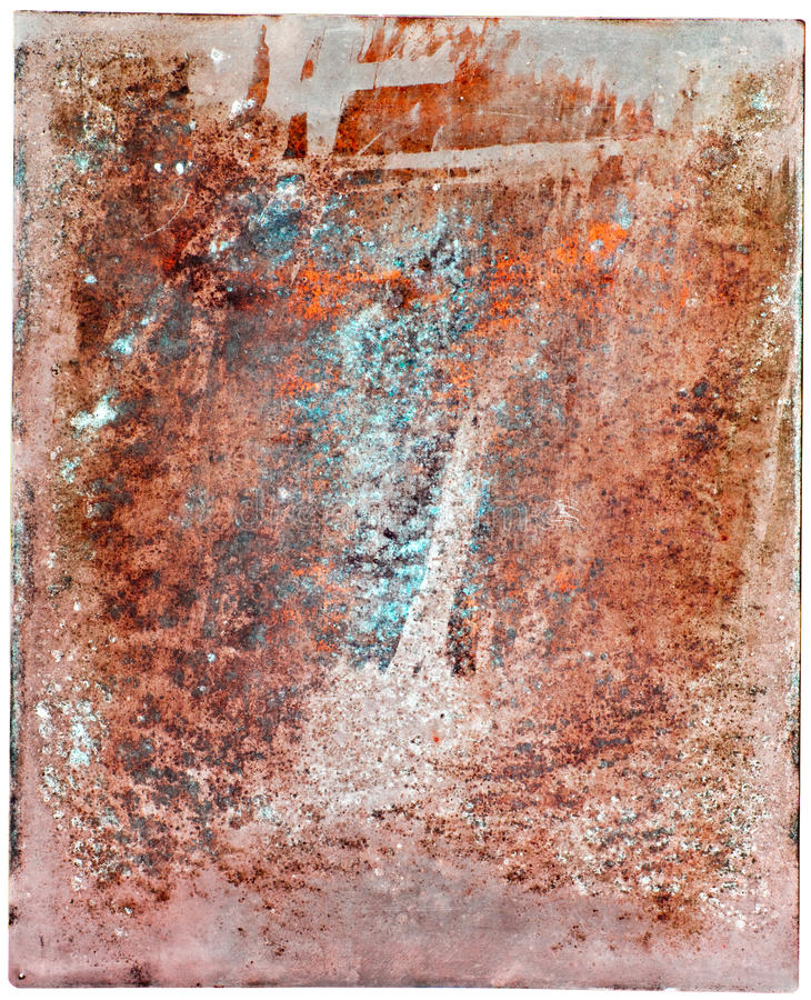 Colorful rusty steel plate
