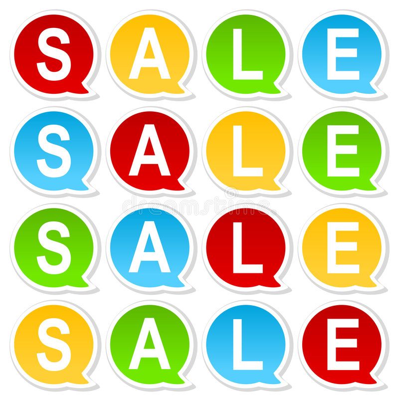 Colorful Sale Tag Stock Photo