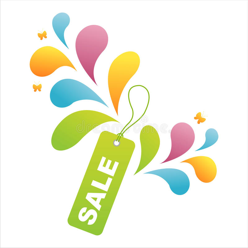 Download Colorful Sale Tag Background Stock Photo - Image of design, cute: 14586012