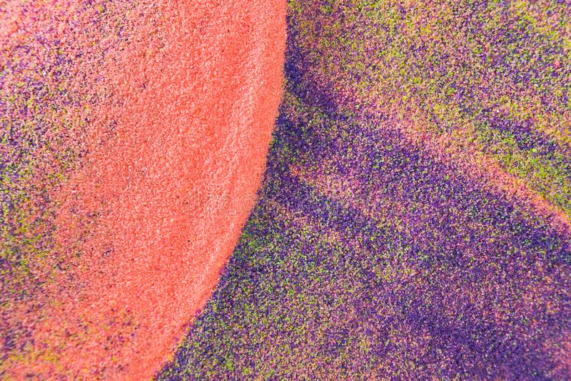 Colorful sand as the background stock photos