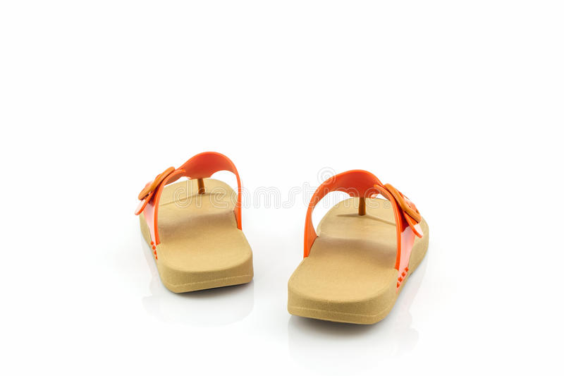Colorful of Sandals shoes / flip flops. Colorful of Sandals shoes / flip flops on white background stock images