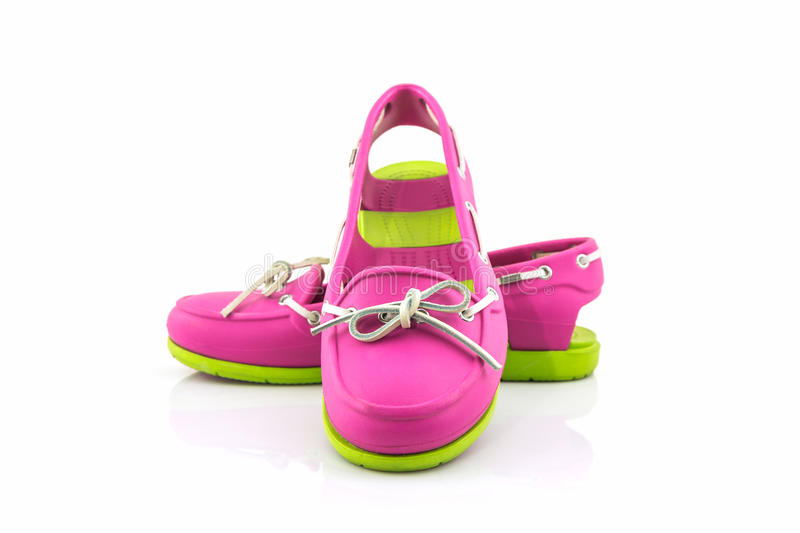 Colorful of Sandals shoes, flip flops. stock photography