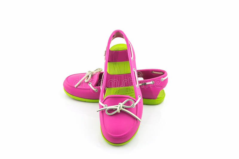 Colorful of Sandals shoes, flip flops. stock images