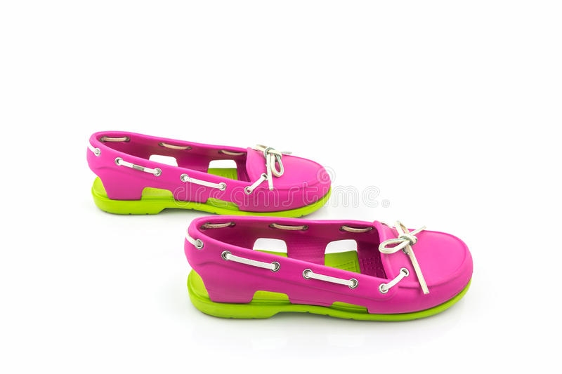 Colorful of Sandals shoes, flip flops. stock photo