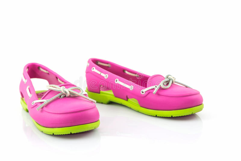 Colorful of Sandals shoes, flip flops. royalty free stock photography