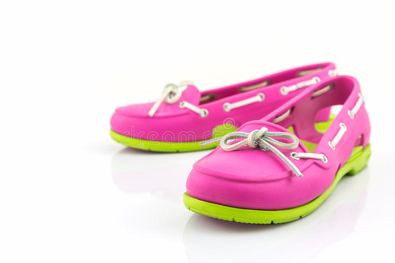 Colorful of Sandals shoes, flip flops. royalty free stock photo