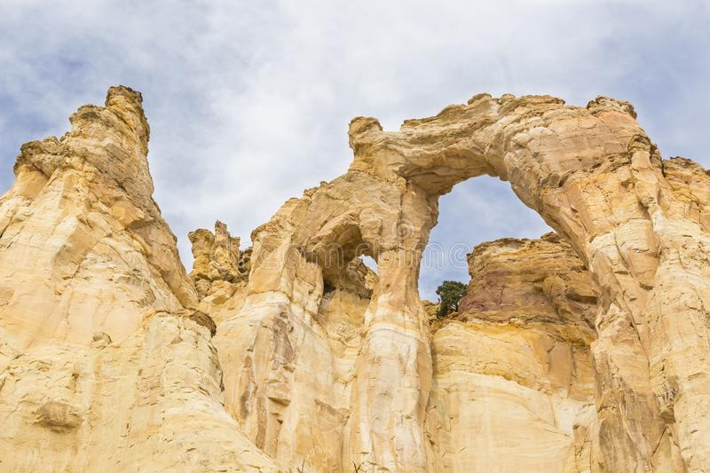 Colorful Sandstrone Double Arch stock photography