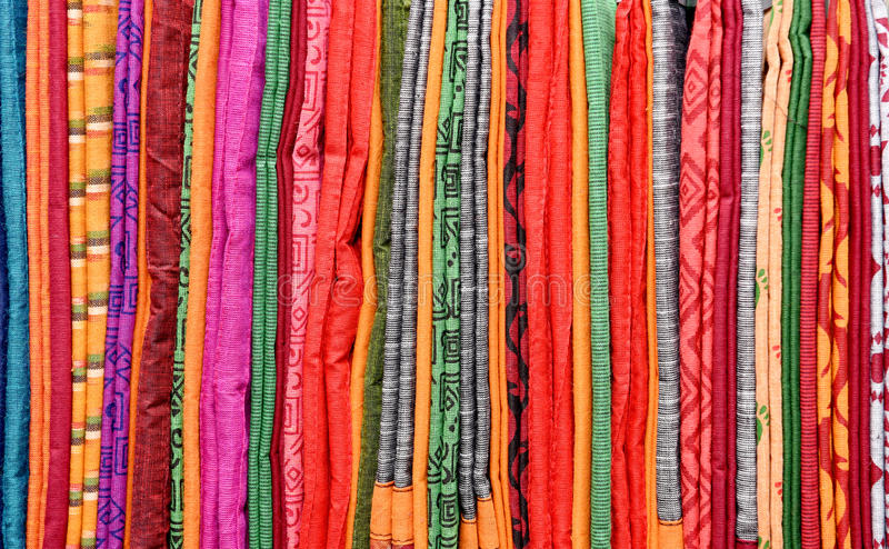 COLORFUL SAREES stock photography