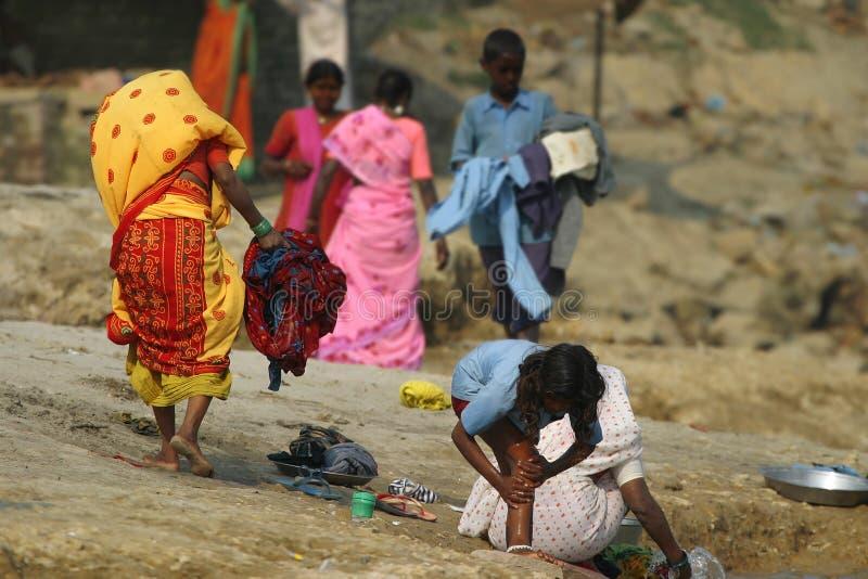 Colorful saris stock photography