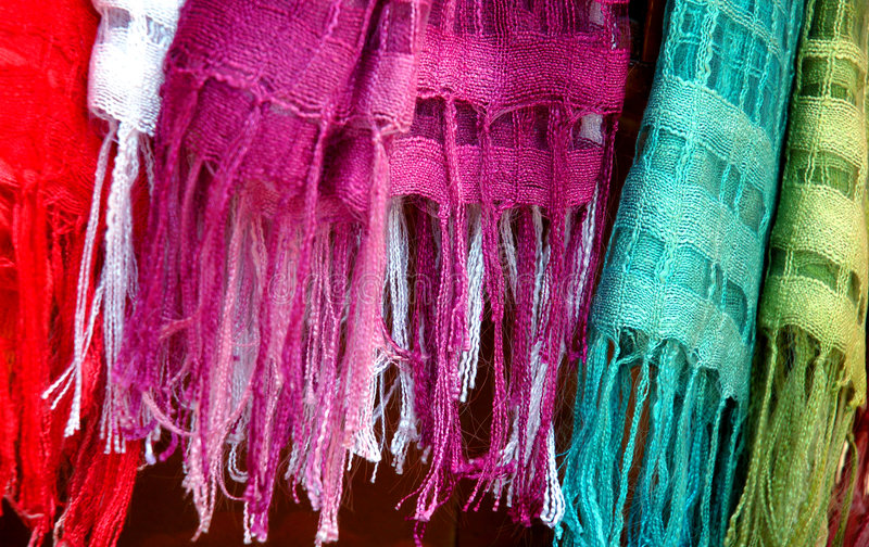 Colorful scarf stock photos