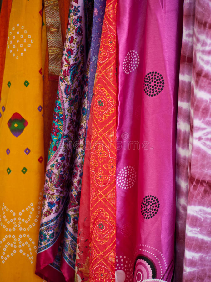 Download Colorful Scarfs At An Outdoor Market Stock Photo - Image of object, scarf: 11571204