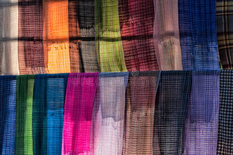 Download Colorful scarves stock photo. Image of colors, colorful - 29195290
