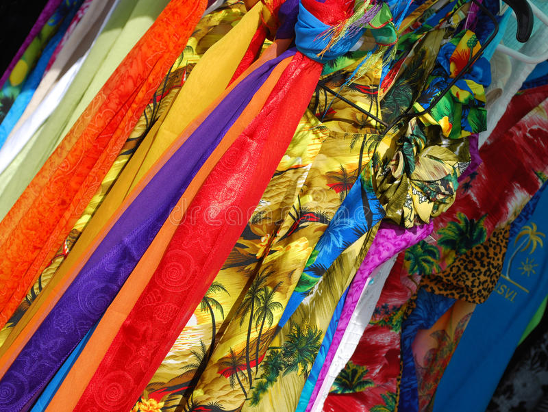 Colorful Scarves royalty free stock photo