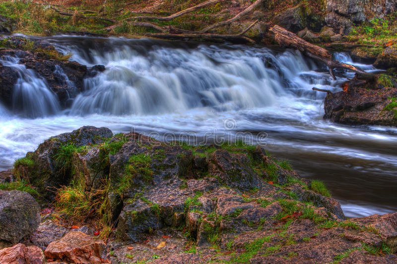 Download Colorful Scenic Waterfall In HDR Royalty Free Stock Image - Image: 21504096