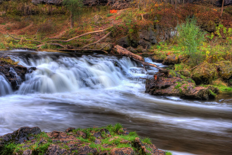 Download Colorful Scenic Waterfall In HDR Stock Photo - Image of season, outdoor: 27649270