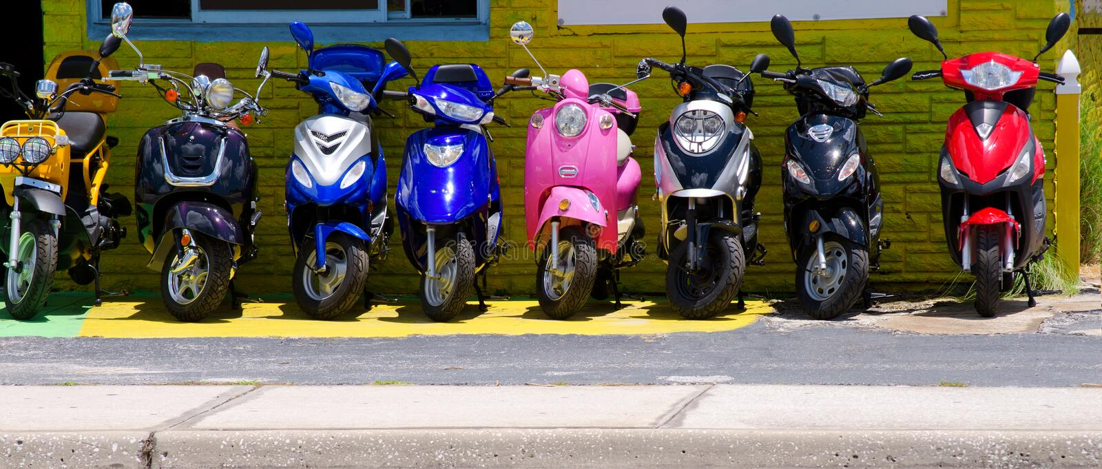 Download Colorful scooters stock image. Image of scooters, yellow - 25720311