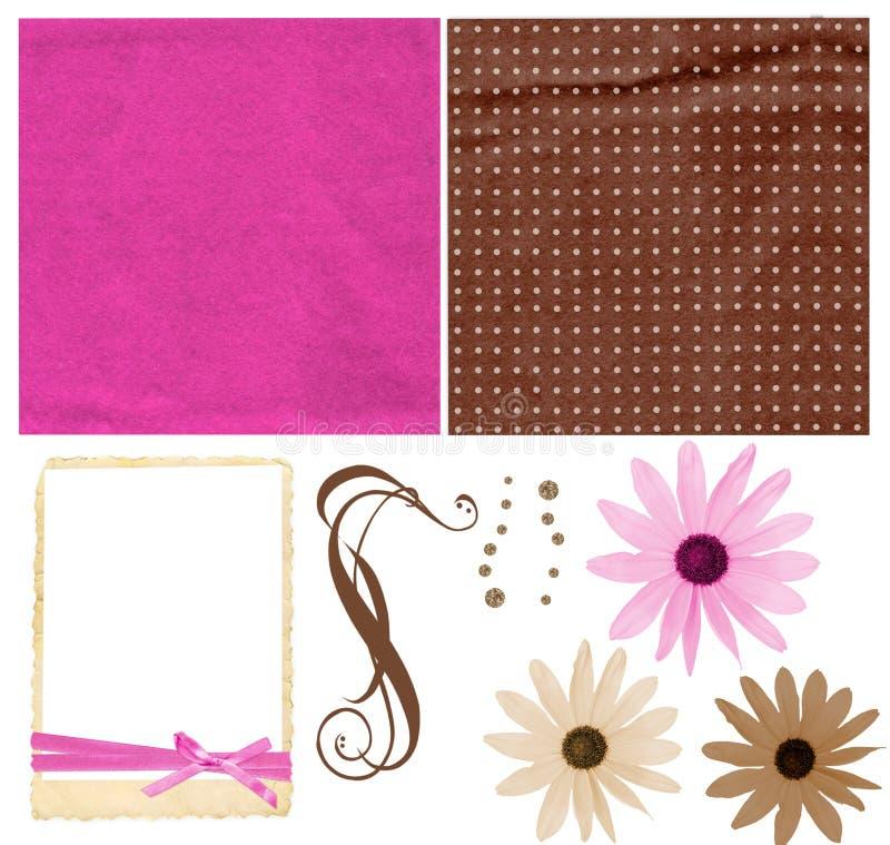 Download Colorful scrapbook kit stock photo. Image of design, brown - 4646880