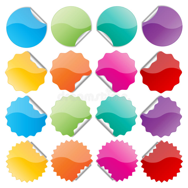 Download Colorful seals stock vector. Image of shiny, colorful - 38845509