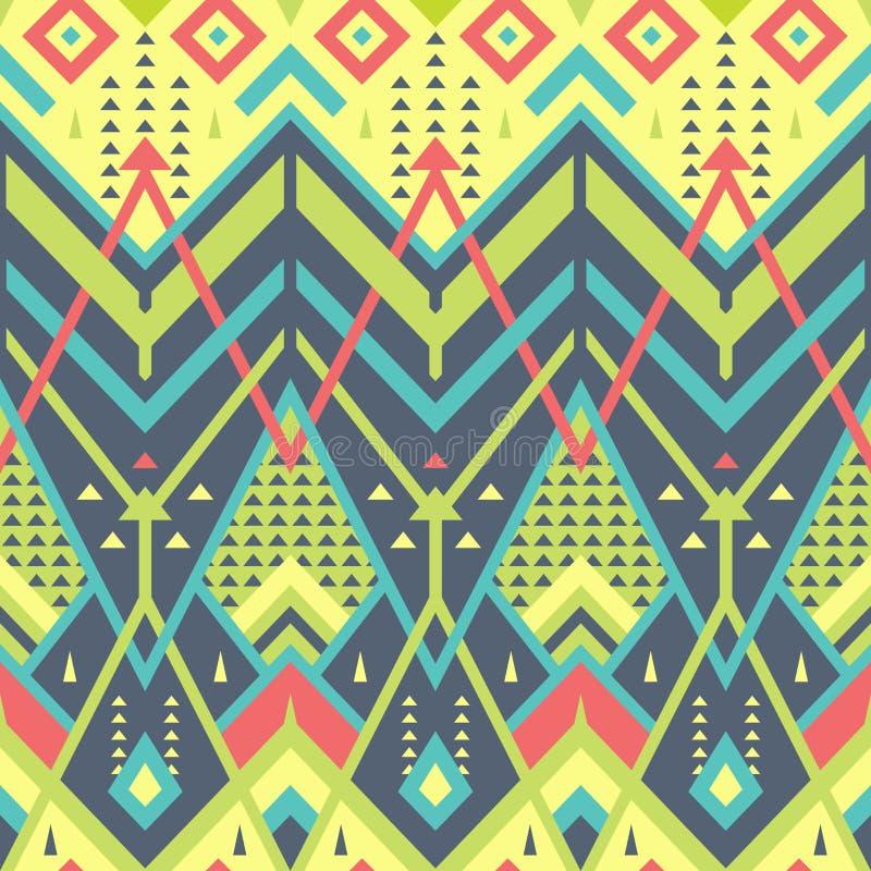 Colorful Seamless Chevron Pattern for Textile Design stock illustration