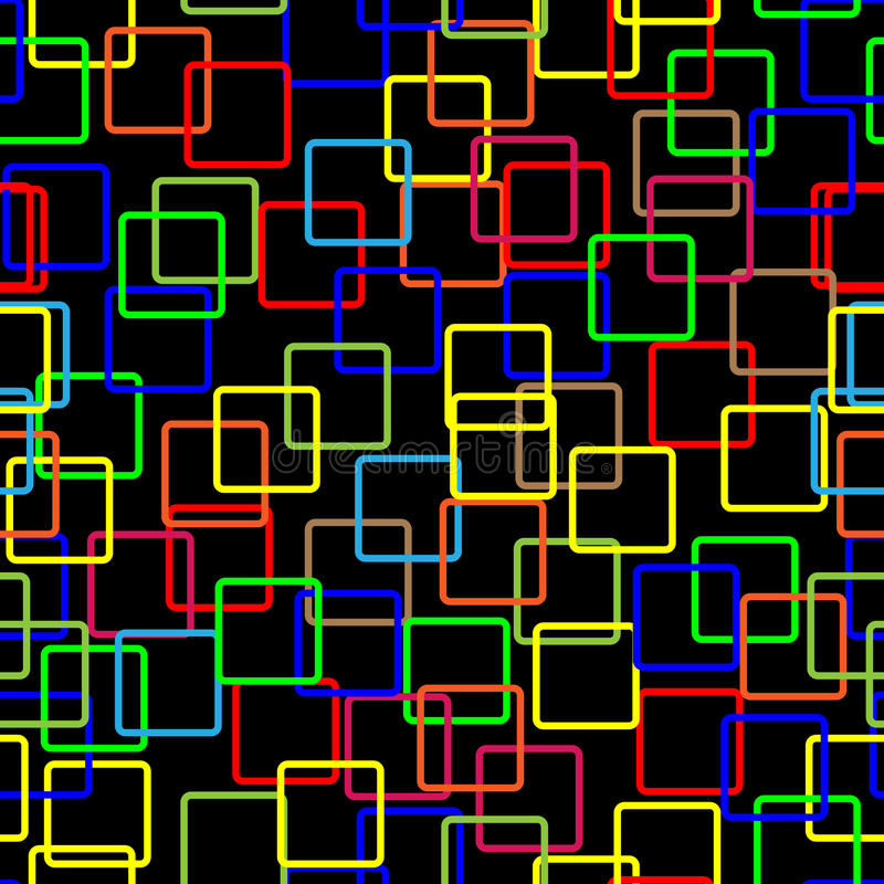 Colorful seamless groups pattern on black backgrou royalty free stock photo