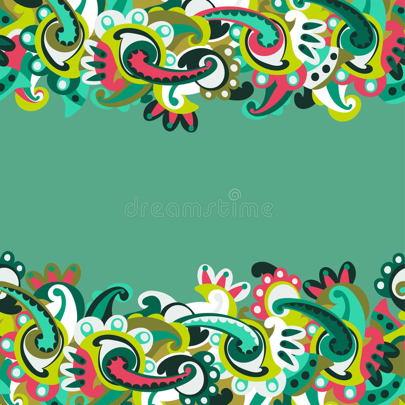 Colorful Seamless Paisley Background Stock Image