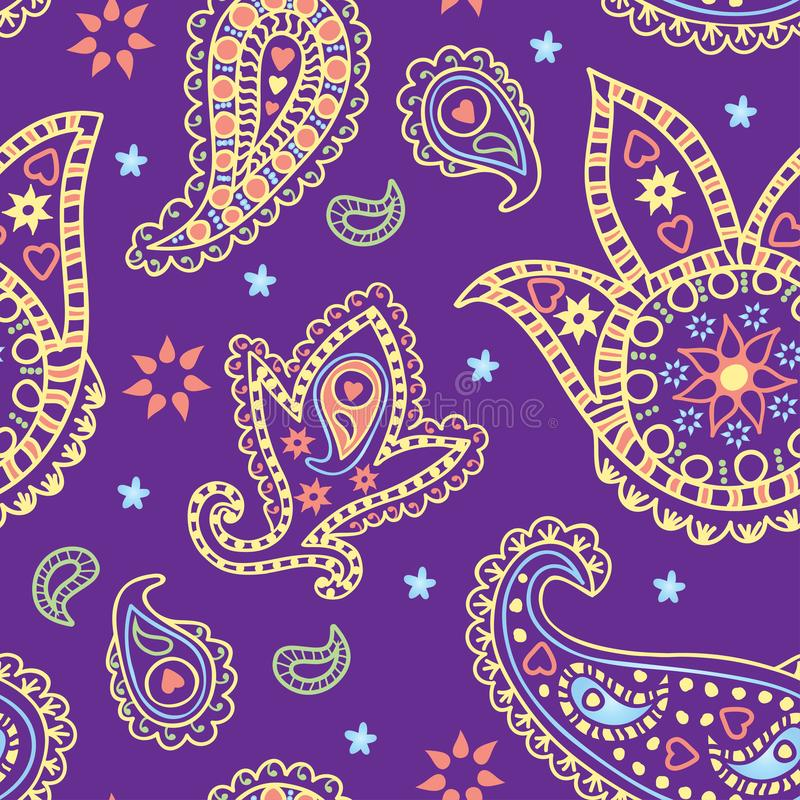 Colorful seamless paisley pattern. Vector illustration. vector illustration