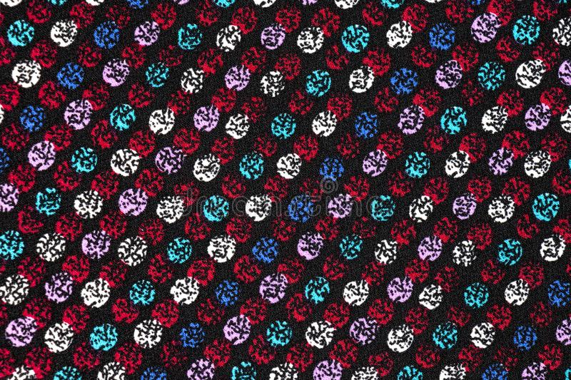 Colorful Seamless Pattern on Cloth stock illustration