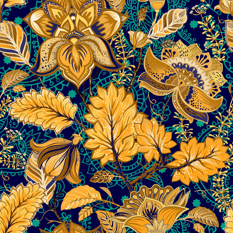 Colorful seamless pattern. Floral background royalty free illustration