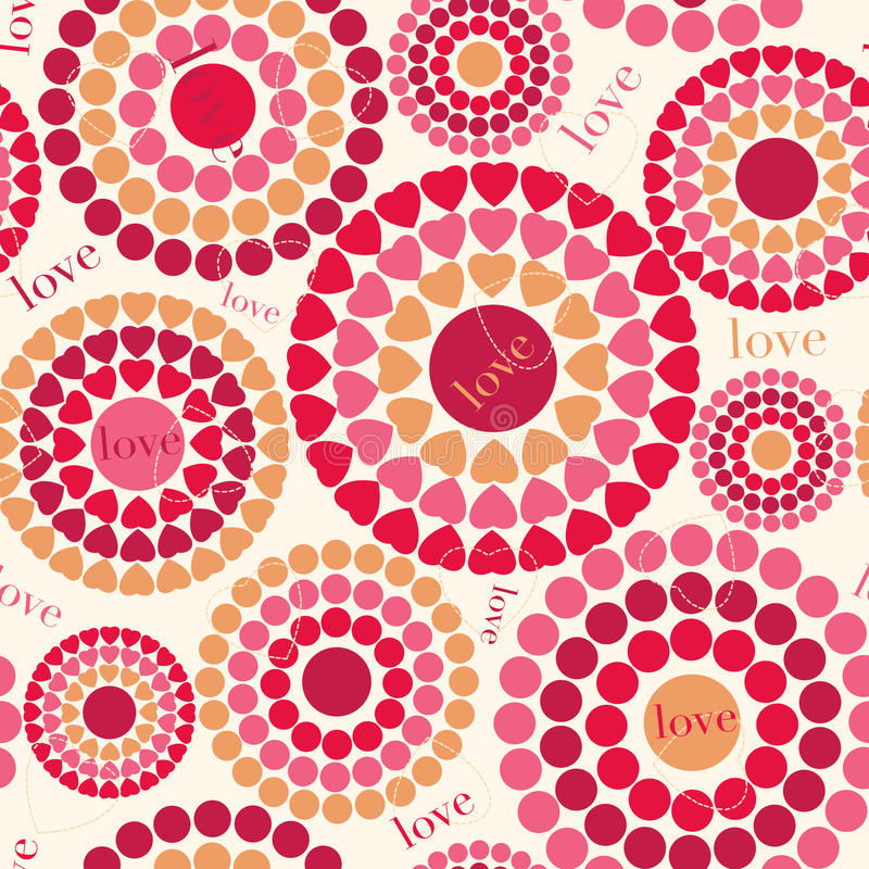 Colorful seamless pattern with hearts, Happy Valentine's day. Cute colorful seamless pattern with hearts, Happy Valentine's day background, vector illustration stock illustration