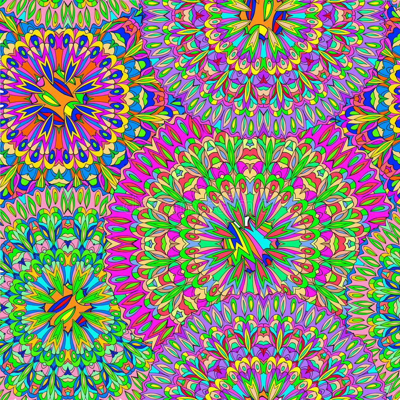 Colorful seamless pattern mandala. royalty free stock photos